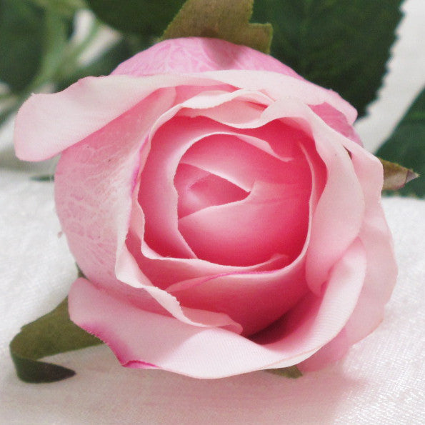 Real Touch Rose Open Bud Pink Ice GL12779