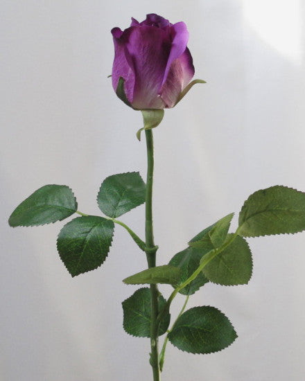 Purple Real Touch Rose Open Bud GL12751
