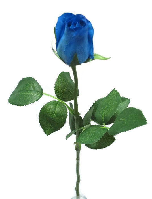 Blue Real Touch open Rose Bud GL12764