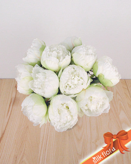 Single Peony Stem JI2608_WH