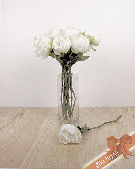 Single Peony Stem JI2608-WH