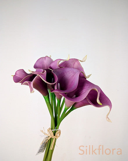 Real Touch Calla Lily bunch S2001-PUR