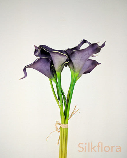 Real Touch Purple Calla Lily bunch JI