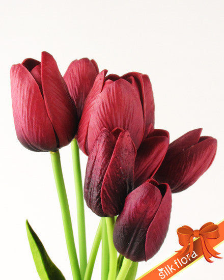 Real Touch tulip Bunch JJ011_MRN