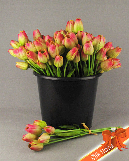 Real Touch tulip Bunch x 7 heads JJ011