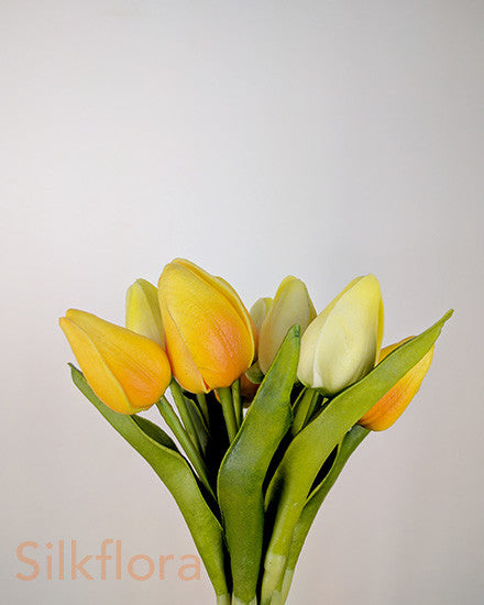 Real Touch Mini Tulip Bouquet x 12 heads S2003-PNK