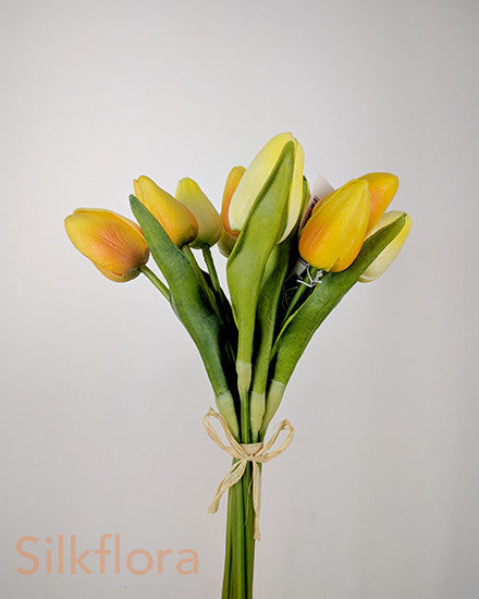 Real Touch Mini Tulip Bouquet x 12 S2003