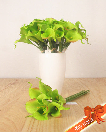 Real Touch Calla Lily Bunch MXCAL081442-GR