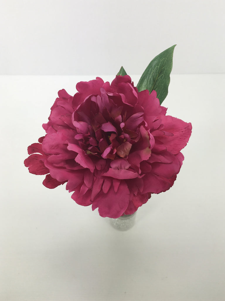 Single Open Peony S5761-WN