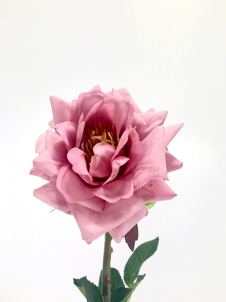 Single Real Touch Garden Rose FB0077-MAUV