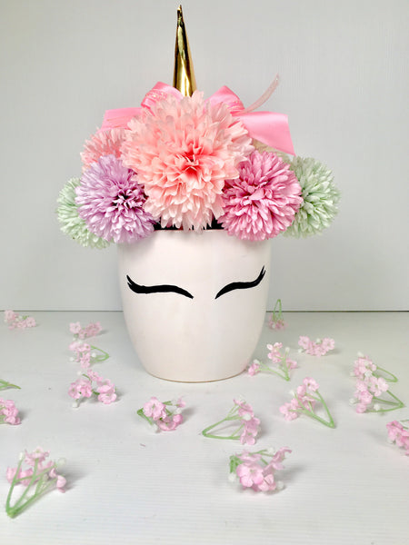 Unicorn Flower Pot SF556