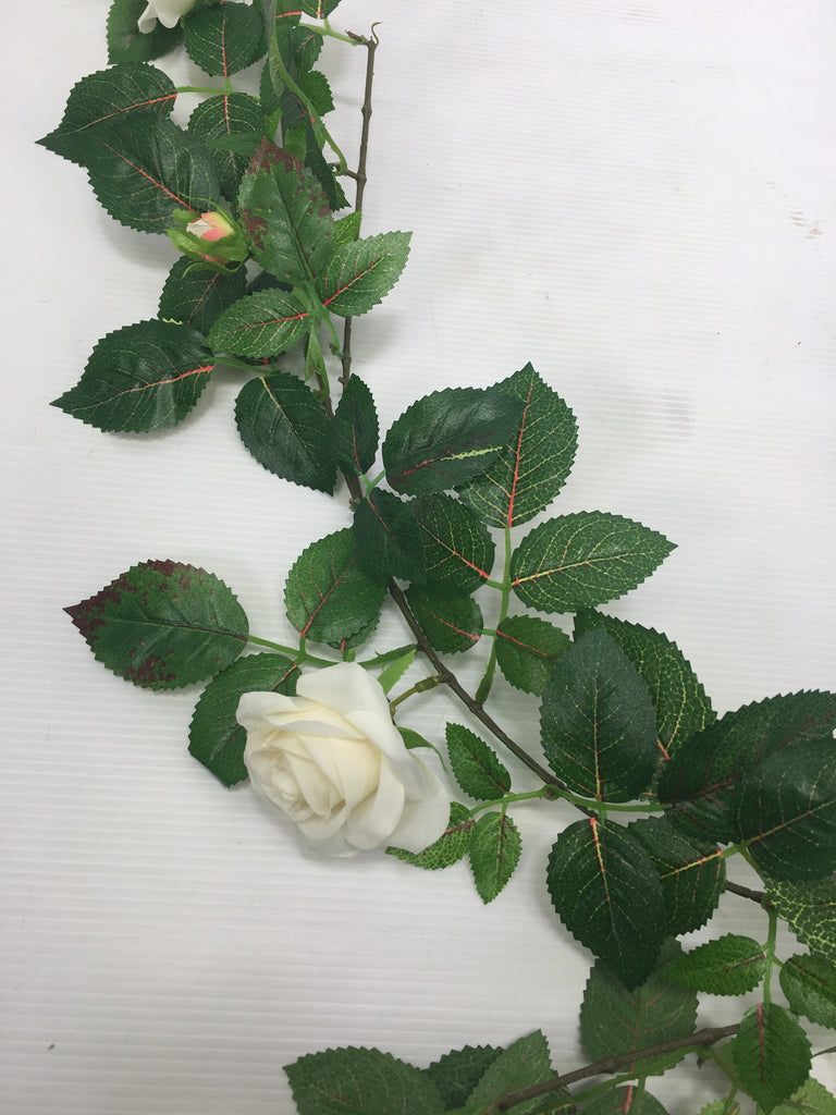 Small Rose Garland S3667-WH