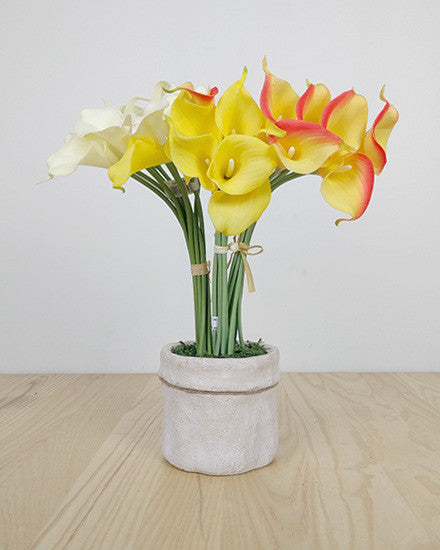 Real Touch Calla Lily Bunch JJ003_ORG