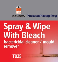 Selden Spray & Wipe with Bleach x 750ml Trigger