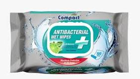 Compact Antibac Wet Wipes 100 wipes x 12 packs
