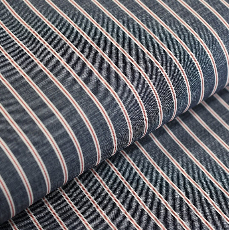SOKTAS INDIGO WITH RED STRIPES