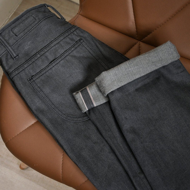 One Washed Premium Smoke Grey Selvedge Denim