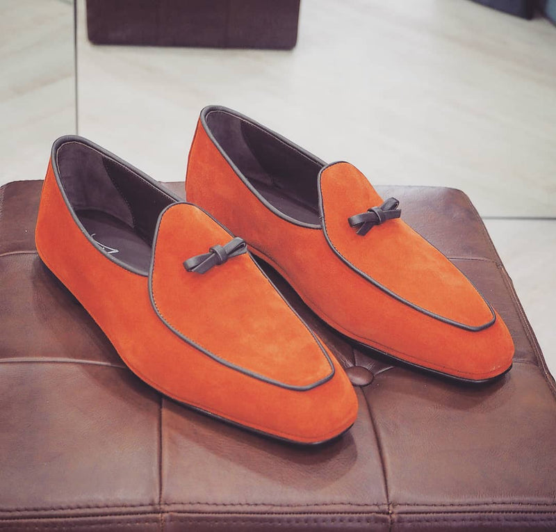 LEONIE SUEDE LOAFER WITH TIE