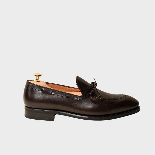 STRING LOAFER IN BROWN BOXCALF