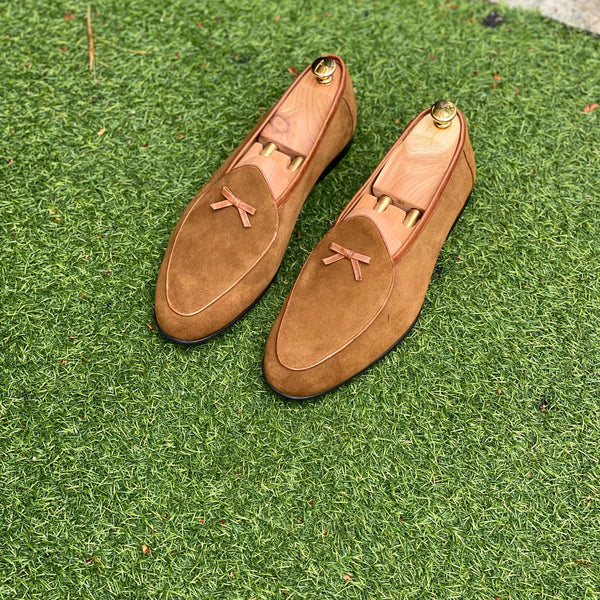Bronze Olive Belgian Loafers