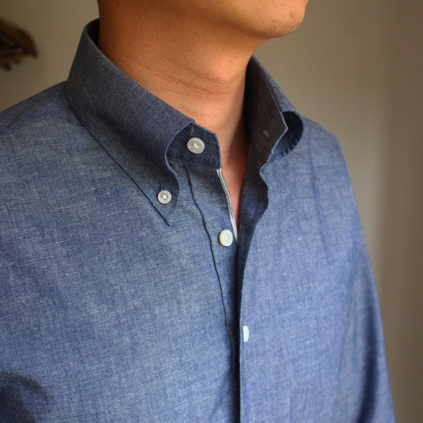 Selvedge Chambray Button Down Shirt (Made to Order)