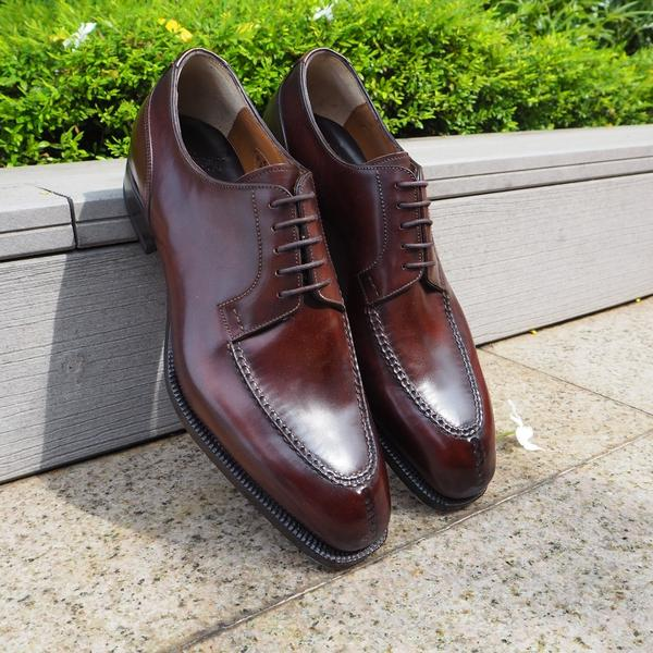 Centurione Split Toe Derby in Chestnut