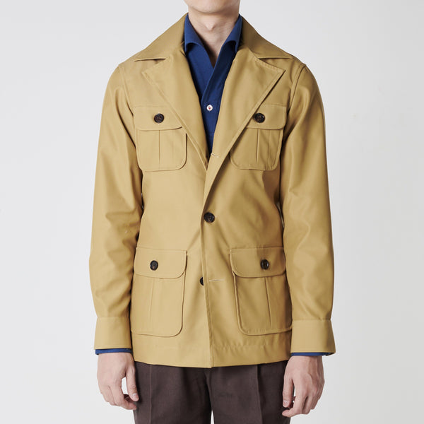Urban Safari Cotton Jacket - Wide Lapel (Made to Order)