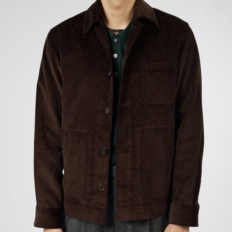 Brisbane Moss 12 Wale Corduroy City Chore Coat