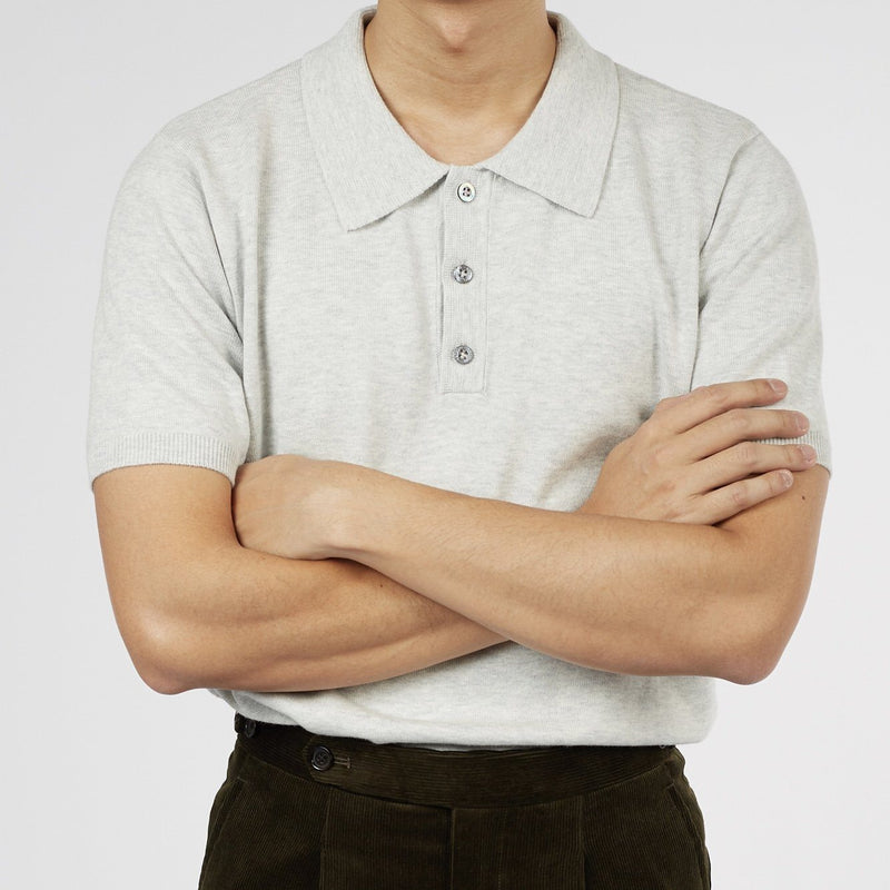 KNITTED SHORT SLEEVE POLO