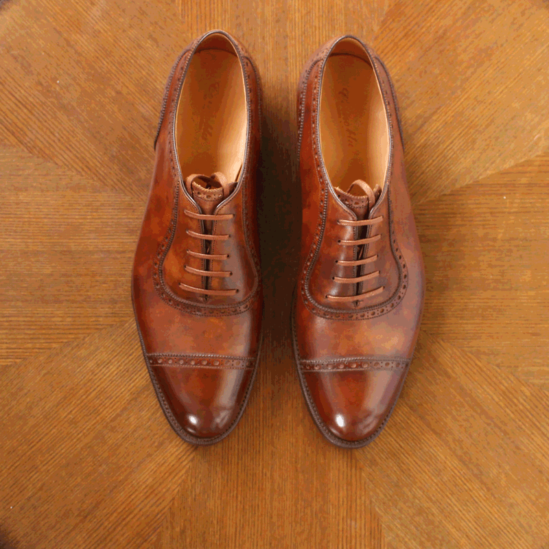 Corno blu - LYRA in Mid Brown Museum Calf - Yeossal