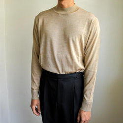 Knitted MOCK NECK 100% CASHMERE