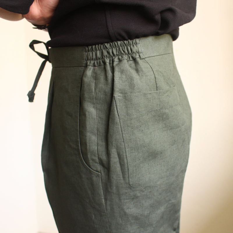 Linen Drawstring Trousers (Made to Order)