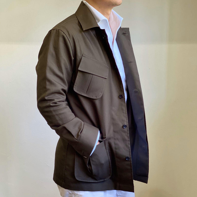 Cotton Jungle Safari Jacket Slim Lapel (Made to Order)*