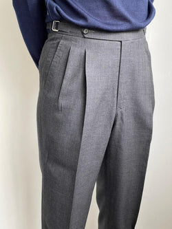Standeven Super 120s Houndstooth Wool Trousers