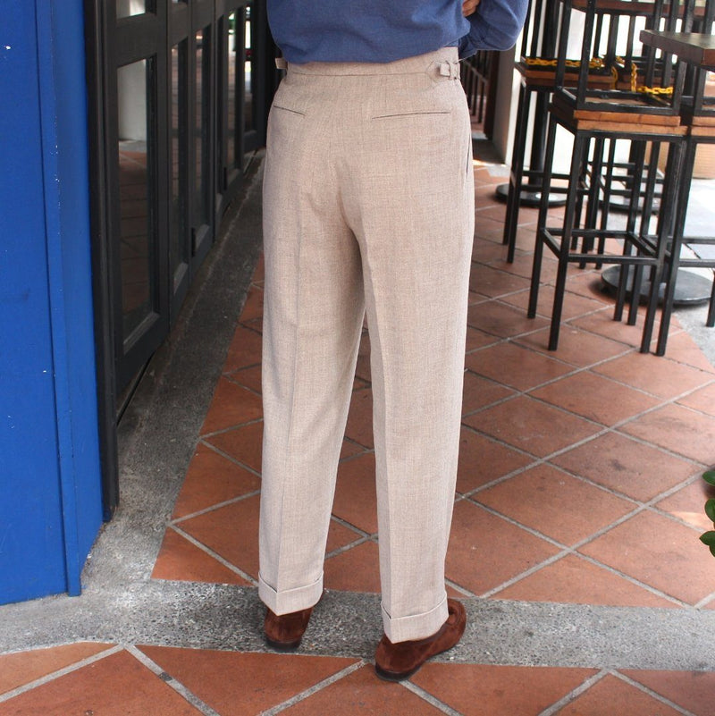 Tailored Business Trousers Drago Rugby Flannel (Made to Order)