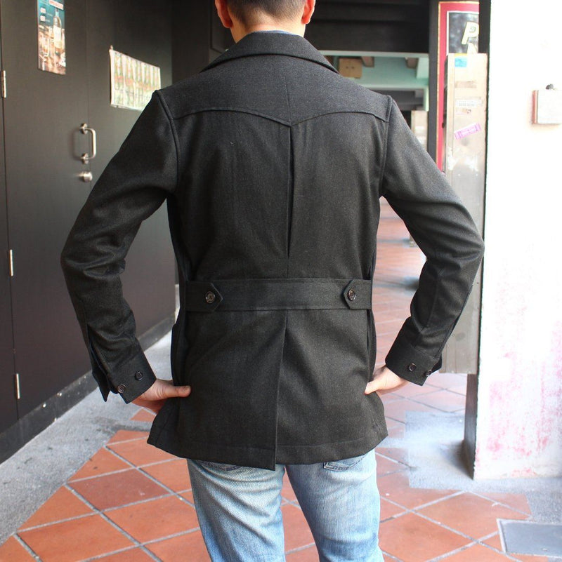 Flannel Urban Safari Jacket - Wide Lapel (Made to Order)