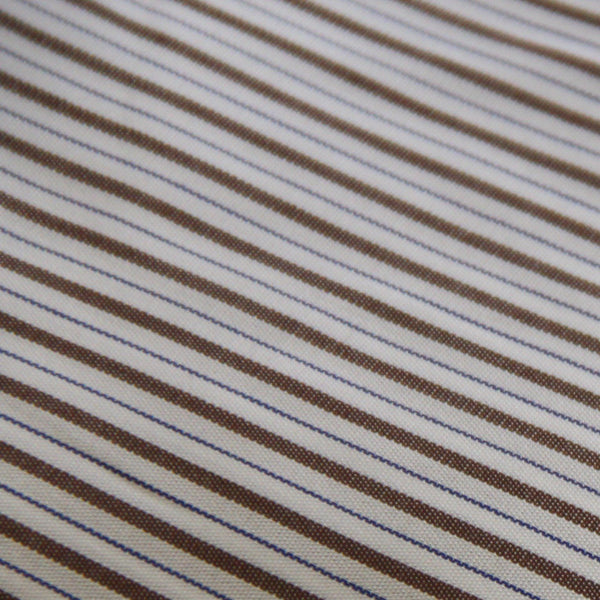 Thomas Mason Vintage Brown/Blue Stripe
