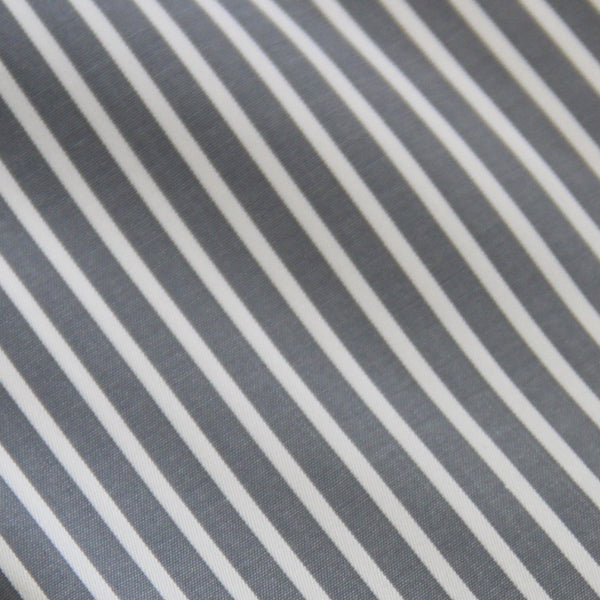 Thomas Mason Grey Stripe