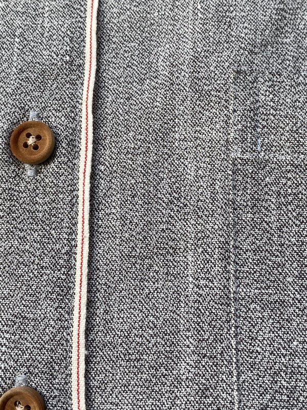 Japanese Twisted Twill Selvedge Grey Chambray Shirt (Made to Order)