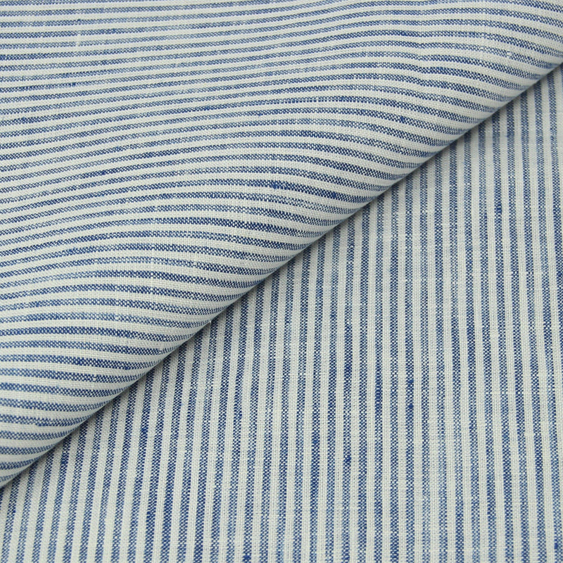 Navy Stripe Linen (Made to Order)
