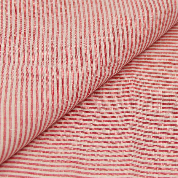 Red Stripe Linen (Made to Order)