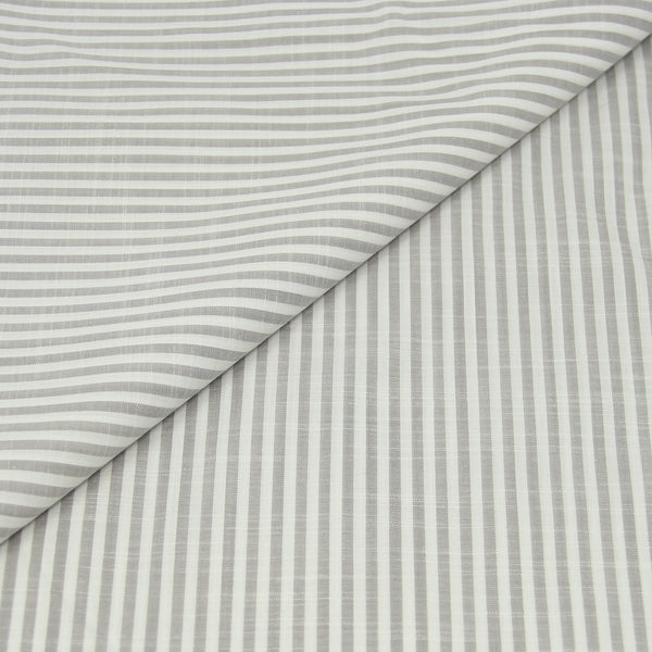 Grey Stripe Cotton/Linen (Made to Order)