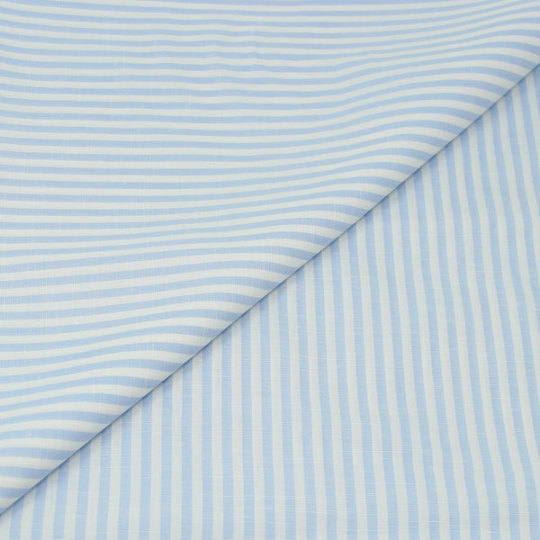 Blue Stripe Cotton/Linen (Made to Order)