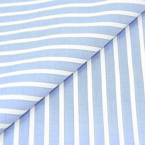 Reverse Blue Twill Stripe Shirt (Made to Order)
