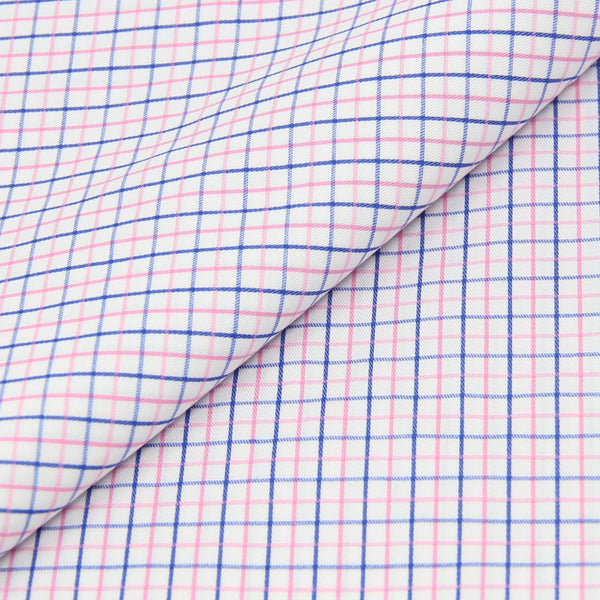 Pink/Blue Checks Shirt (Made to Order)