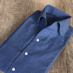 Selvedge Chambray One Piece Collar Shirt (Made to Order)