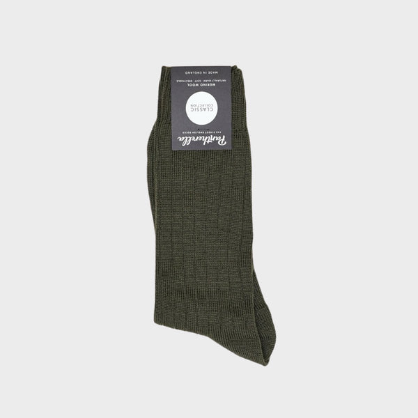 Packington Rib Merino Wool Men's Socks