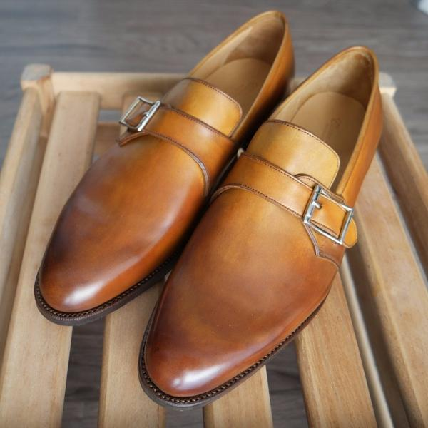 Corno blu - Linx in Burnished Honey Brown Calf - Yeossal
