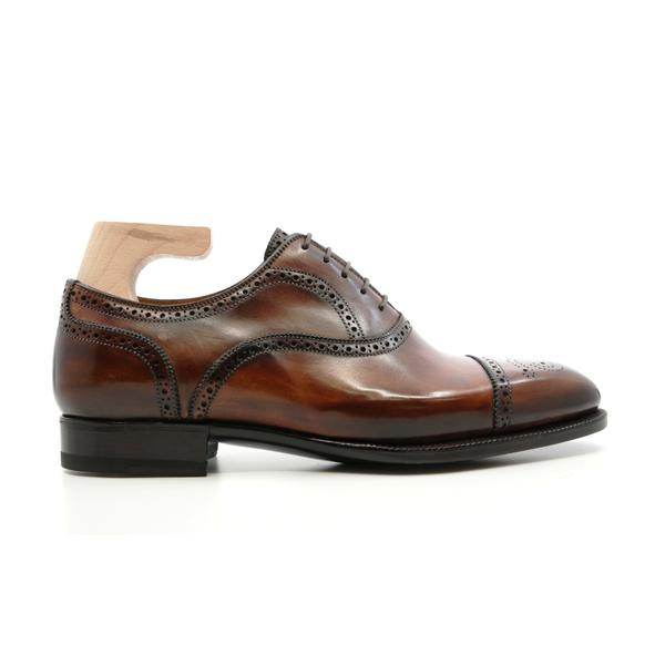 Antonio Meccariello - Handwelted Semi Brogue in Noce di Benevento - Yeossal