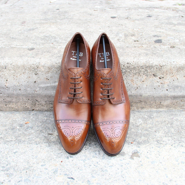 SADDLE DERBY MID BROWN
